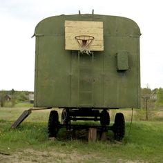 Basketball Hoop Lithuania 2004. Photo © Rupert Conant