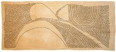 Amparo de la Sota, 2014. 190 X 90 cm.Tea dyed linen fabric. Embroidery. Linen, cotton.