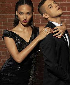 Cora Emmanuel & Rami Malek photographed by Azim Haidaryan for Elle US September 2016 Stylist: Simon Robins Hair: Lacy Redway Makeup: Tyron Machhausen #inspiration #blog #blogger #tumblr #fashion #style #models #photography #vogue http://www.midnight-charm.com/