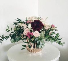 Wedding Flower Arrangements For the wind chasing, flower child! All inside of a gose gold Wedding Table Centerpieces, Wedding Flower Arrangements, Floral Arrangements, Wedding Bouquets, Wedding Decorations, Centerpiece Flowers, Centerpiece Ideas, Gold Vase Centerpieces, Flower Decoration