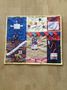Alzheimer& fidget blanket new Sewing Tutorials, Sewing Crafts, Sewing Projects, Sewing Patterns, Sewing Ideas, Sewing Tips, Weighted Blanket Diy, Sensory Blanket, Fidget Blankets