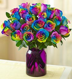 Kaleidoscope Roses, 12-24 Stems I don't even like roses and I like these!!!!