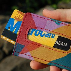 Upcycled Wallet made from recycled plastic bags