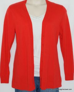 a17bd1af4 GAP Womens Size XL Cardigan Sweater Button Down Red Long Sleeves Wool Blend  #GAP #