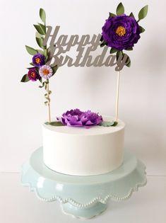 Custom cake topper modernblooms.etsy.com