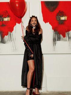 3 Rihanna's 8th Album Artwork Reveal Chrome Hearts Black Coat and Slip Dress