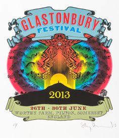 2013 Glastonbury Poster - Stanley Donwood