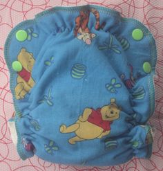 Winnie the Pooh Serged Diaper  Size 1 by BabyBear on Etsy, $19.00