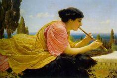 A Melody, John Godward, 1904