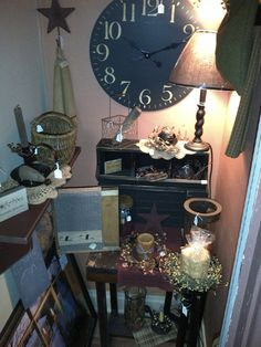 Country Home Decor, Lamps, Clocks, Candles, Stars