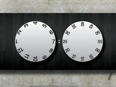 Creative Design, Clock, Industrial, Untime, and Concept image ideas & inspiration on Designspiration Home Clock, Clock Art, Diy Clock, Clock Ideas, Aftershave, Wall Watch, Cool Clocks, Wall Clock Design, Digital Clocks