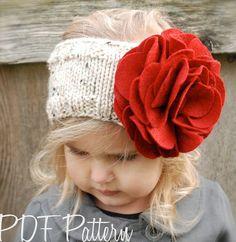 Knitting PATTERN-The Ava Warmer Toddler Child by Thevelvetacorn