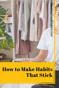 How to Make Habits That Stick #habits #dailyhabits You Better Work, How To Better Yourself, Better Life, Development Quotes, Self Development, Personal Development, Habit Quotes, Work Quotes, Good Habits