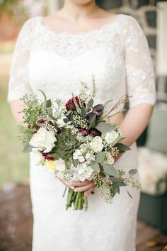Rustic Pennsylvania Wedding at Grace Winery from Emily Wren Photography - bridal bouquet