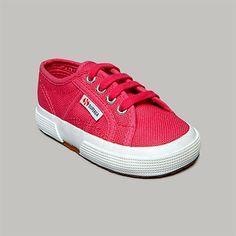 Superga® Girls 1st Walker 2750 JCOT Classic Sneaker #VonMaur #Superga #Fuchsia #Sneakers