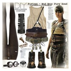 A fashion look from October 2015 featuring J.Crew tops, River Island leggings and Rick Owens bracelets. Browse and shop related looks. Costume Halloween, Mad Max Costume, Halloween Fashion, Halloween Diy, Mad Max Cosplay, Halloween Inspo, Halloween 2020, Post Apocalyptic Costume, Apocalyptic Fashion
