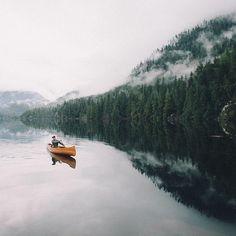 Canoeing on Kennedy Lake, north of Ucluelet on Vancouver Island's west coast. Photo: @graeme_o via Instagram #exploreBC #exploreCanada
