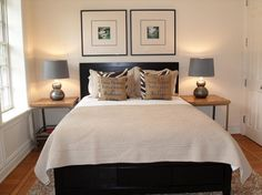 Small Guest Bedroom- simple, symmetrical, rustic side tables. Sheridan - contemporary - bedroom - san francisco - studio D