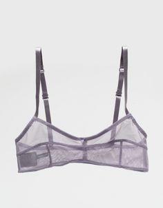 Style - Minimal + Classic : grey sheer bra