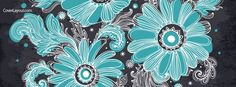 Blue Flowers Facebook Cover coverlayout.com
