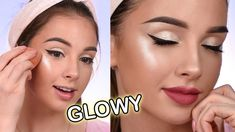 millieleer tiktok dark eye makeup - Google Search Makeup Tutorial Foundation, Makeup Tutorial Eyeliner, Easy Makeup Tutorial, Makeup Tutorial For Beginners, Makeup Utensils, Dark Eye Makeup, Glowy Makeup, Makeup Tutorials Youtube, Summer Makeup