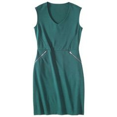 Mossimo® Petites V-Neck Zipper Pocket Dress - Assorted Colors maybe not for grad, but for work?