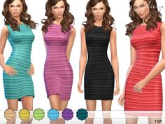 10 different colors. New item. Custom mesh by me. Found in TSR Category 'Sims 4 Female Everyday' Source: ekinege's Ripple Bodycon Dress Sims 4 Dresses, Nice Dresses, Formal Dresses, Sims 4 Clothing, Clothing Sets, Sims 4 Game, Sims 4 Update, Sims 1, Sims Resource