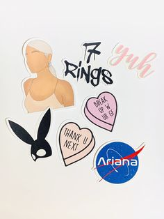 Ariana Grande Songs, Ariana Grande Drawings, Ariana Grande Photos, Macbook Stickers, Phone Stickers, Cool Stickers, Homemade Stickers, Bubble Stickers, Aesthetic Stickers