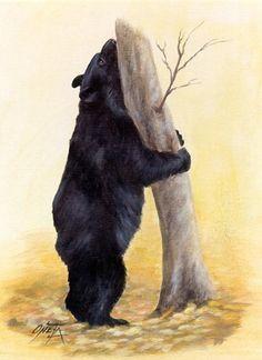 Bear Hug aceo print by ONETA by 2ndMoon on Etsy