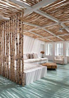 DIY Raumteiler aus Holz für dezente raumtrennung