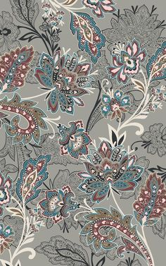 x Sara Feinstein Design. Art or fabric? Batik Pattern, Pattern Art, Pattern Design, Paisley Pattern, Print Wallpaper, Pattern Wallpaper, Wallpaper Backgrounds, Paisley Wallpaper, Wallpapers