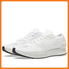 online store 37c05 4d680 Nike Men Flyknit Racer Running (white   white-sail-pure platinum) Size