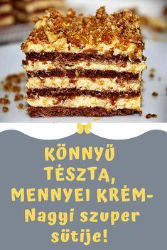 megcsinálod? #recept #süti #édesség Hungarian Desserts, Hungarian Recipes, Sweet Desserts, Delicious Desserts, Cookie Recipes, Dessert Recipes, Those Recipe, Homemade Cookies, Chocolate Cheesecake