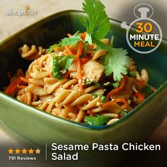 """Sesame Pasta Chicken Salad   """"Everyone loved this, including the kids!! This was nice and easy; we used a rotisserie chicken and it turned out great!"""""""
