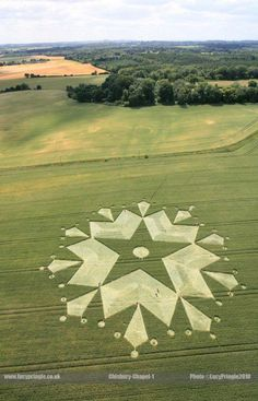 Crop circle discovered on 3rd July 2010 at St Martin's Chapel near Chisbury, Wiltshire UK