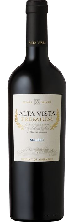 Alta Vista Premium Malbec 2012. Bodega Alta Vista (Provincia de Mendoza, Argentina) Altura S.N.M: 1000. De color rubí, con aromas complejos a frutas rojas muy maduras y especies, este Premium Malbec es redondo y posee una gran concentración en boca. Valor de referencia $100