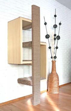 ein kratzbaum zur befestigung an der wand rauf und runter. Black Bedroom Furniture Sets. Home Design Ideas