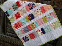 Baby Quilt from Nicola Foreman using Miss Kate from Bonnie and Camille.
