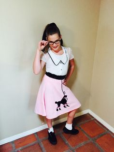 Cute 50u0027s poodle skirt costume. & DYI Robot Costume Idea add a inexpensive voice changer.   Costume ...