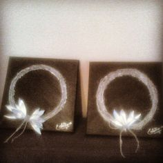 Little panels!!! Silver wreath and silver leaves from olives!!!
