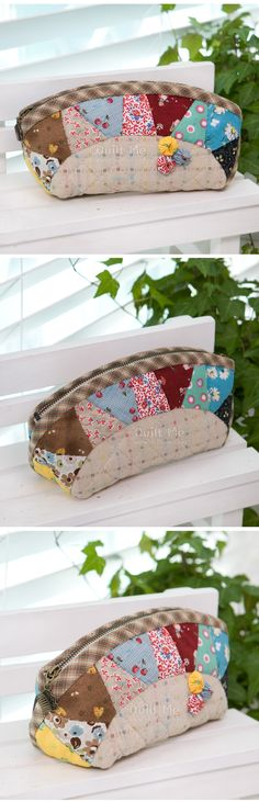 Patchwork cosmetic bags