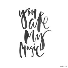 Magic | Handlettering by Courtney Shelton | #handlettering #typography #brushlettering
