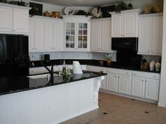 Off White Kitchen Black Appliances white kitchen, black appliances | kitchens | pinterest | kitchen