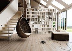 cocoon vajicko z umeleho ratanu hneda  2 Hanging Baskets, Hanging Chair, Guest Room, Bookcase, Shelves, Furniture, Design, Home Decor, Cruiser Bicycle