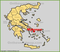 Leros location on the Greece map Maps Pinterest Greece islands