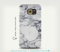 Samsung Galaxy S6 affaire, marbre Samsung Galaxy, Galaxy S5, couverture de téléphone, Samsung en marbre blanc Galaxy S4 cas
