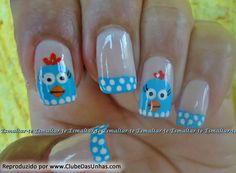 unhas galinha pintadinha Nails For Kids, Love Nails, Nail Art Designs, Hair Beauty, Pastel, 30, Nailart, Disney, Craft Letters