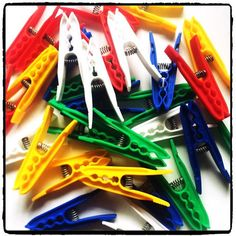 Many areas of the body might do well with a bit of clamping so go on, add a box of these colourful clothes pegs to your cart . Clothes Pegs, Colourful Outfits, Fancy, Color, Colour, Colors