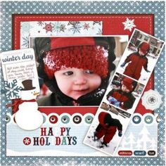 winter scrapbook page ideas - Google Search