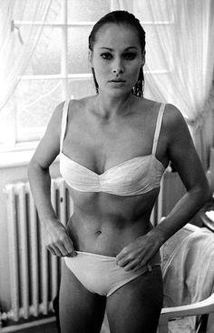 """David HURN :: Ursula Andress, London, UK, 1962 [while filming """"Dr. No""""]"""